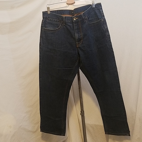Sean John Other - SEAN JOHN Dark Wash Jeans w/Leather Back Pockets